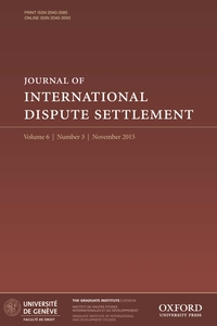 Journal of International Dispute Settlement