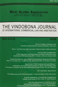 The Vindobona Journal of International Commercial Law and Arbitration
