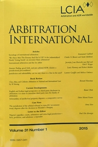 Arbitration International