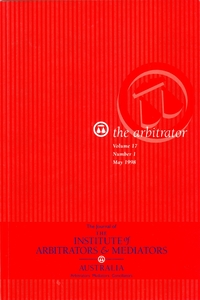 The Journal of the Institute of Arbitrators & Mediators Australia