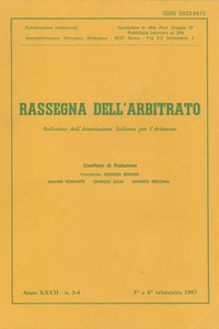 Rassegna dell'arbitrato (1961–1990)